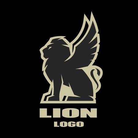 Gevleugelde leeuw, logo, symbool.