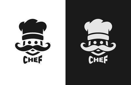 チーフ、モノクロのロゴ、2 つのバージョン。 写真素材