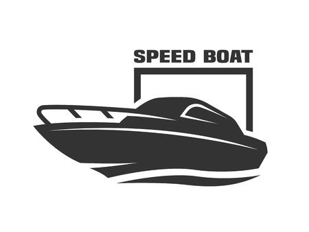 Speed boat logo. Illustration