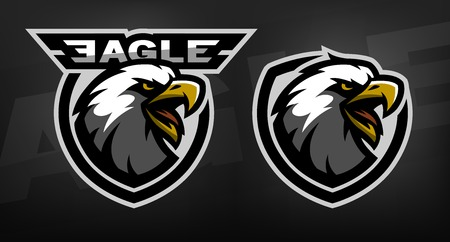 Head of the eagle, sport Two versions Vectores