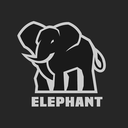 Elephant. Monochrome  icon Illustration