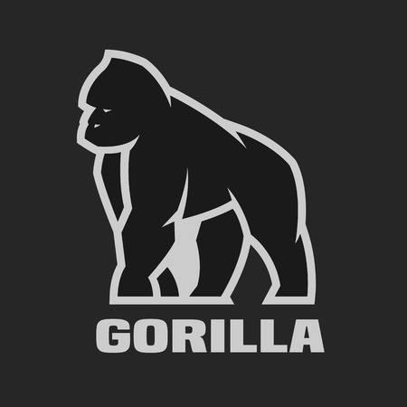Gorilla monochrome logo on a dark background.