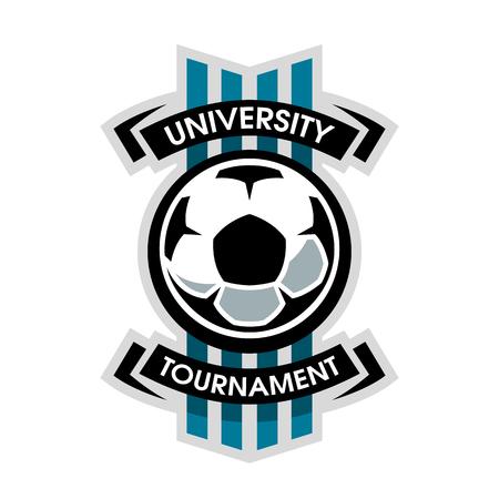 University tournament, soccer logo. Imagens