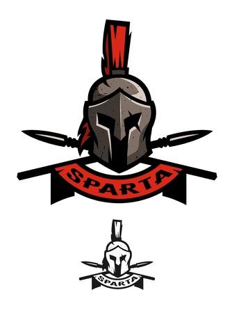 Battle Helmet and Spears. Stock Photo