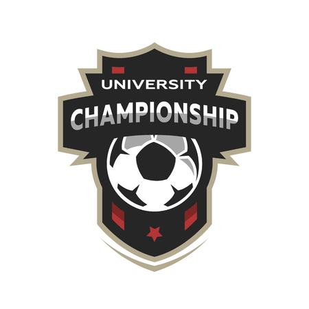 University championship, soccer logo. Stock Photo - 88647459