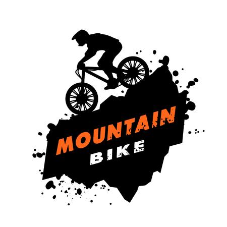 산악 자전거 아이콘입니다. 일러스트