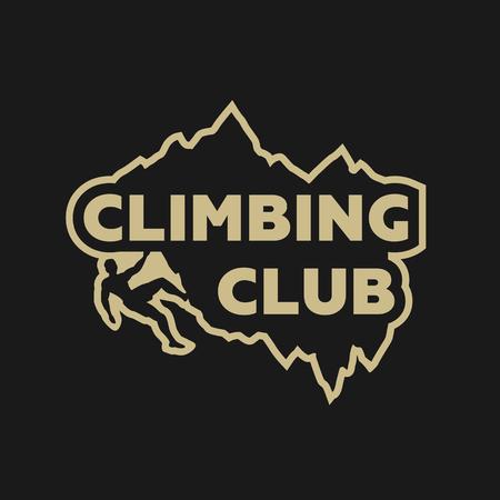 Climbing club emblem. Illustration