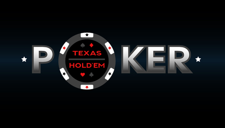 Texas Holdem Poker, vector illustration.
