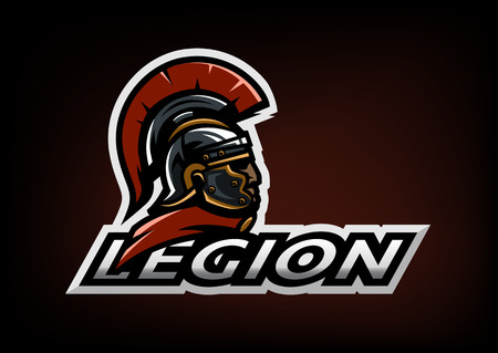 Roman Legionnaire logo on a dark background. Ilustracja