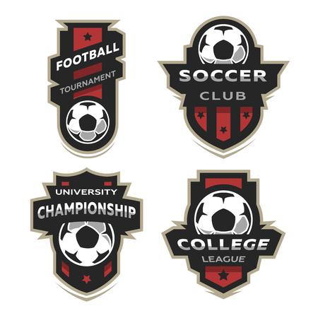 Set of Soccer Football logo, emblem.