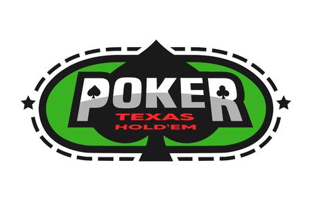 Texas Holdem poker emblem.