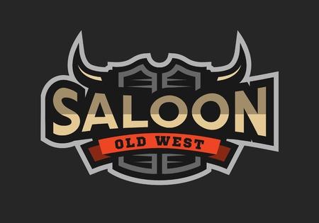 Saloon, tavern, wild west  emblem. Vettoriali
