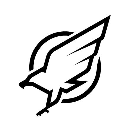 Projekt symbolu godła orła. Ilustracje wektorowe