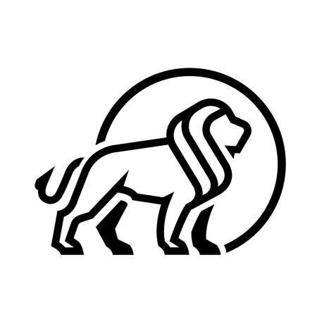 Lion emblem symbol.