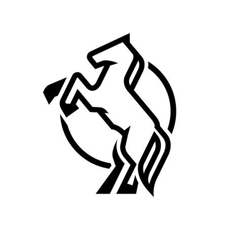 Horse logo, symbol.