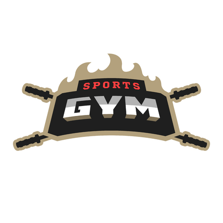 Sports gym icon .