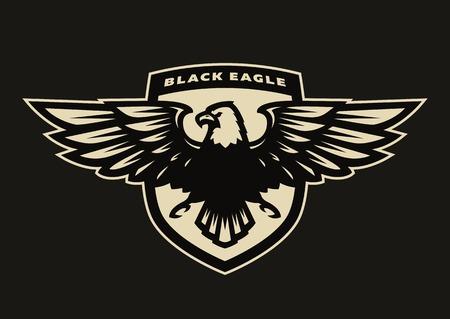 Black eagle symbol, emblem. Stock Photo