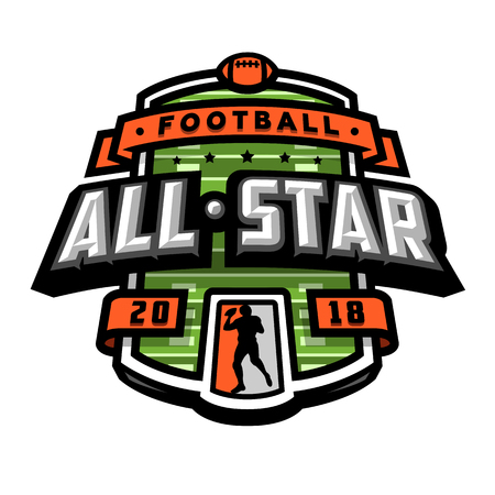 All stars of football, logo, emblem. Stok Fotoğraf - 98356377