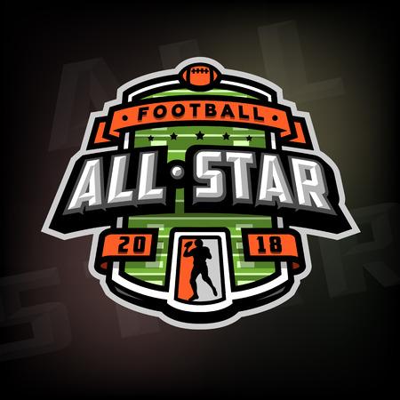 All stars of football, logo, emblem.