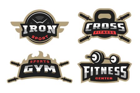 Establecer deporte, emblema del logotipo.