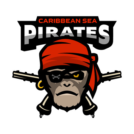 Il pirata è una scimmia e le pistole.
