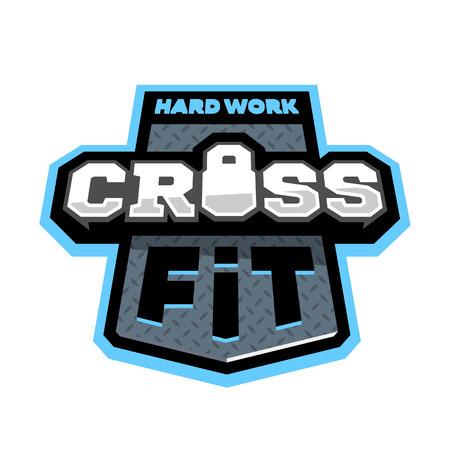 Cross fitness sport, logo emblem.