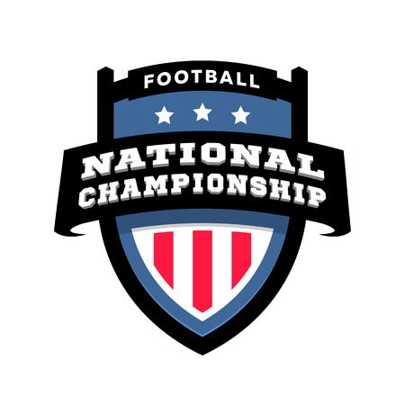 Football nationl championship emblem logo. Vector illustration. Çizim