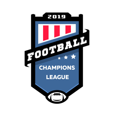 Football champions league emblem logo. Vector illustration.