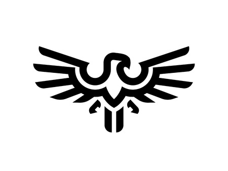 Eagle line logo design template. Vector illustration. Иллюстрация
