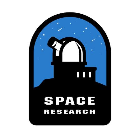 Insignes de recherche spatiale et emblème du logo. Illustration vectorielle.