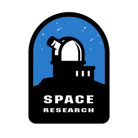 Space research badges and logo emblem. Vector illustration.