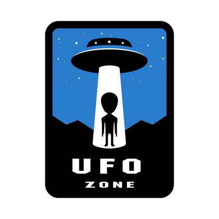 UFO-Zonenabzeichen und Logoemblem. Vektor-Illustration. Logo