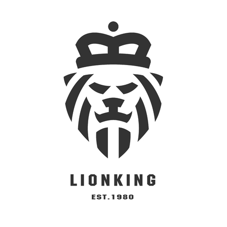 lion head logo, symbol template. Vector illustration. Illustration