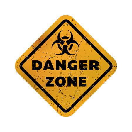 Toxic zone , grungy emblem, sign. Vector illustration. Illustration