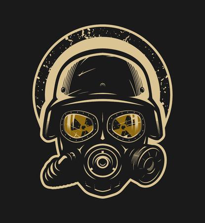 Helm und Gasmaske, Strahlenschutz