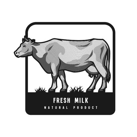 Farm dairy cow.