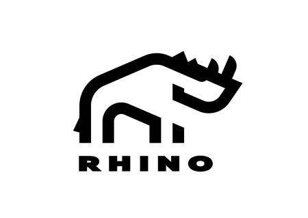 Rhino, linear icon. In a minimalist style.
