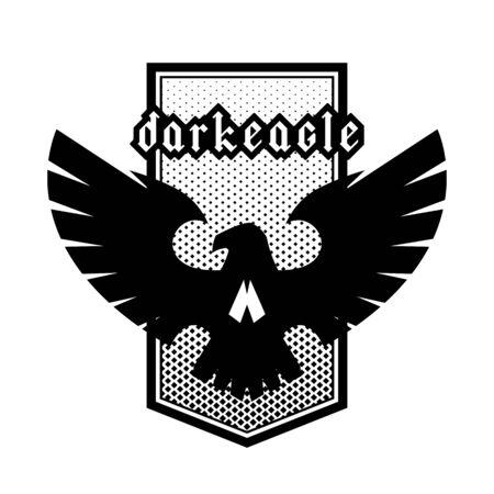 Eagle skull emblem, symbol, logo. Vector illustration.