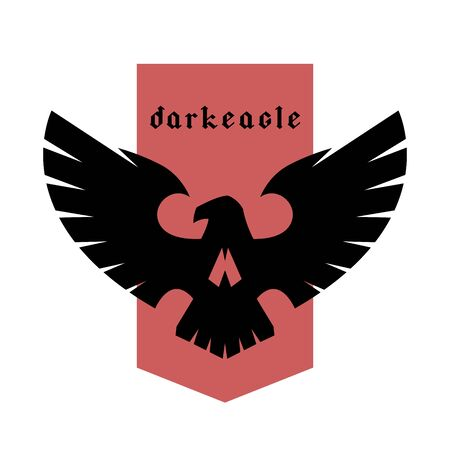 Eagle skull emblem, logo, symbol. Vector illustration.