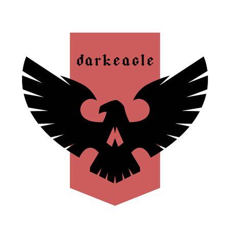 Emblema del cráneo del águila, logotipo, símbolo. Ilustración vectorial.