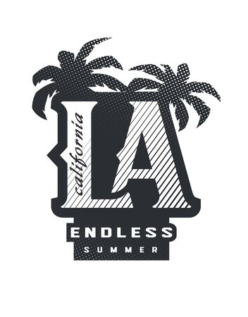 Los Angeles, California typography for t-shirt print. Vector illustration.