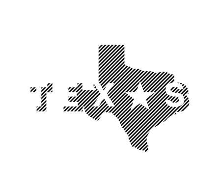 Texas State logo, emblem, t-shirt design. Vector illustration. Ilustracja