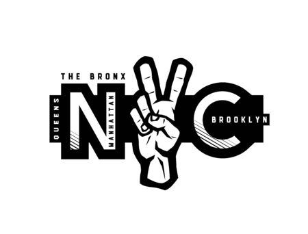 T-shirt Printing design. NYC emblem. New York, Manhattan, Brooklyn, Queens the Bronx. Vector illustration.