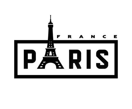 Paris, France T-shirt print design . Vector illustration.