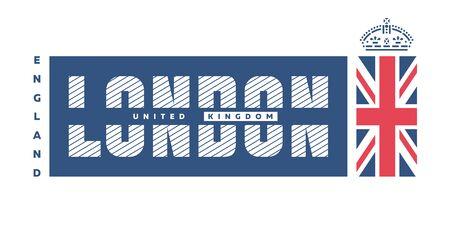 London , United Kingdom T-shirt Printing design. Vector illustration.
