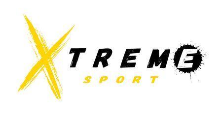 Extremsport-Logo, Emblem im Grunge-Stil. Vektor-Illustration.