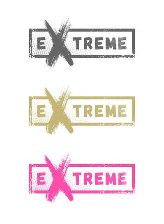 Extreme sport logo, emblem in grunge style. Vector illustration. Ilustração