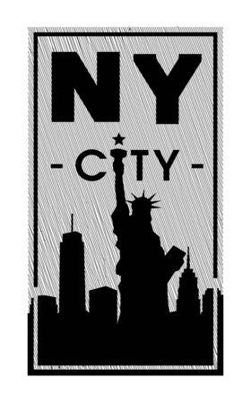 New york city, t-shirt graphics. Vector illustration.