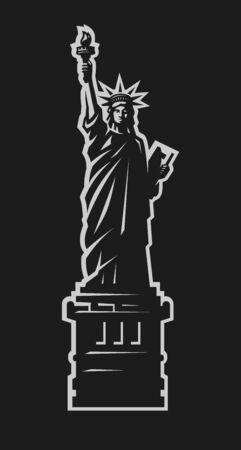Statue of Liberty. American symbol. Vector illustration.