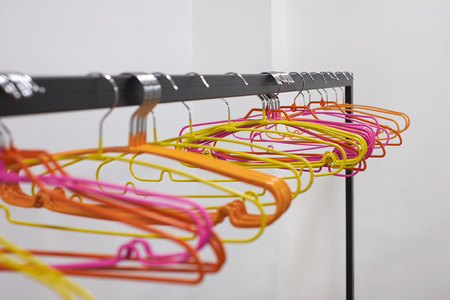colourful plastic hanger for clothes